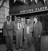 Portrait of Thelonious Monk, Howard McGhee, Roy Eldridge, and Teddy Hill, Minton's Playhouse, New York, NY, c. September 1947, 20 x 16 Silver Gelatin Photograph