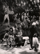 Haunted House at a Fair, Naples, 1955, 11-7/10 x 8-3/8 Vintage Silver Gelatin Photograph