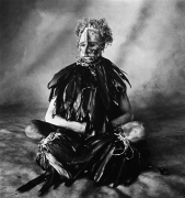 Sitting Man with Pink Face, New Guinea, 1970, Platinum Palladium Photograph, Ed. of 50