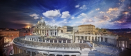 Easter Mass, Vatican, Rome, Italy, Day to Night, 2016, C-Type Print
