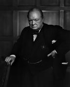 Winston Churchill, 1941, 20 x 16 Silver Gelatin Photograph