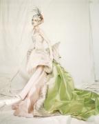Guinevere in a Nina Ricci Haute Couture dress, Paris, 1996, Archival Pigment Print