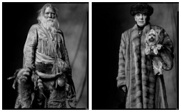 Fur Trapper / Woman with Dog, 2003 / 2004, 20 x 32-1/2 Diptych, Archival Pigment Print, Ed. 20