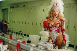Exotic dancer Tammy, 25, backstage at Little Darlings, the largest fully nude strip club in the United States, Las Vegas, 1995, 20 x 30 inch - Archival Pigment Print - Ed. of 5