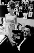 Deborah Dixon and Federico Fellini, Italian High Fashion, for Harper's Bazaar, Rome, Italy, 1962