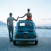 Saori & Mossimo Holding Hands, Amalfi, Italy, 2007, Archive Number: DEP-1207-100-08, 16 x 20 Archival Pigment Print