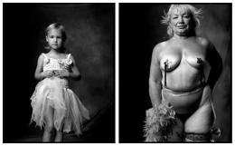 Young Ballerina / Go Go Dancer, 2003 / 1999, 20 x 32-1/2 Diptych, Archival Pigment Print, Ed. 20