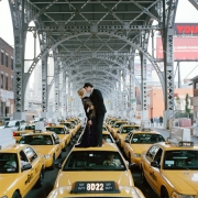 Edythe and Andrew Kissing on Top of Taxis, New York, New York, 2008, Archive Number: NYM-0608-125-05-03, 16 x 20 Archival Pigment Print