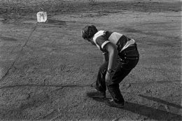 Boy with Ice Block, Alan Kaprow's Fluids,1967