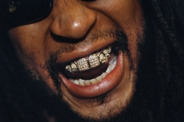 Rapper and producer Lil Jon, 33, sporting a diamond and platinum grill that reportedly cost $50,000, at the 2004 Soul Train Awards, Los Angeles.