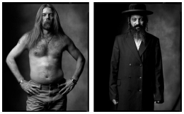 Southerner / Hassidic Jew, 2004 / 2007, 20 x 32-1/2 Diptych, Archival Pigment Print, Ed. 20
