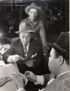 Robert Mitchum (Playing Cards on Set), 20 x 16 Silver Gelatin Photograph