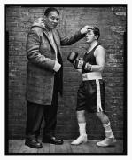 Muhammad Ali & Michael J. Fox, New York, NY, 2004, 20 x 16 inches, Silver Gelatin Photograph, Ed. of 25