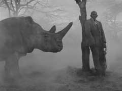 Githui and Najin by tree, Kenya, 2020