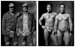 Coal Miners / Male Exotic Dancers, 2000 / 2006, 20 x 32-1/2 Diptych, Archival Pigment Print, Ed. 20