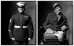 Marine / War Veteran, 2002 / 2004, 20 x 32-1/2 Diptych, Archival Pigment Print, Ed. 20