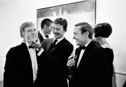 Andy Warhol, Billy Al Bengston, and Dennis Hopper, Time Magazine, 1963, Silver Gelatin Photograph