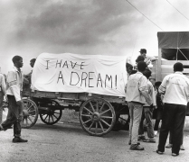 A mule train, part of Martin Luther King Jr.'s Poor People's Campaign, leaves Marks, Mississippi for Washington D.C, 1968, Archival Pigment Print