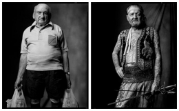 Grocery Shopper / Sword Swallower, 2004 / 2007, 20 x 32-1/2 Diptych, Archival Pigment Print, Ed. 20