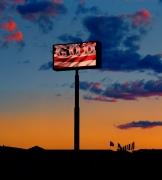 The God Sign, Route 15, Las Vegas, 2001, Archival Pigment Print