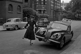 Mate and Jaguar, South Kensington, London, UK, 1955