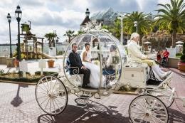 Christina, 21, en route to her wedding in Cinderella's glass coach, Walt Disney World, Orlando, Florida, 2013, 20 x 30 inch - Archival Pigment Print - Ed. of 5