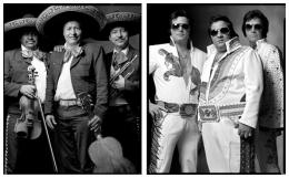 Mariachis / Elvis Impersonators, 2000 / 2002, 20 x 32-1/2 Diptych, Archival Pigment Print, Ed. 20