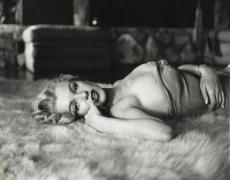 Marilyn Monroe (Reclining on Fur Rug), 1953, 11 x 14 Silver Gelatin Photograph