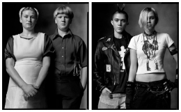 Amish Teenagers / Punk Teenagers, 2004 / 2004, 20 x 32-1/2 Diptych, Archival Pigment Print, Ed. 20