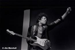 Jimi Hendrix (Arm Raised with Guitar), Monterey Park, June 17, 1967