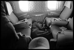 Robert Kennedy (asleep on plane), Last Campaign, 1968