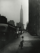 Boy and Empire State Building, New York City, 1951, Silver Gelatin Photograph