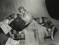 Marilyn Monroe (Reading Reference Book), 1953, 11 x 14 Silver Gelatin Photograph