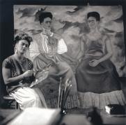 """Frida Kahlo Painting """"The Two Fridas"""", c. 1939, 20 x 16 Platinum Photograph, Ed. 30"""