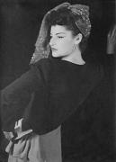 Juliet with Head Scarf, c. 1949, 10-3/4 x 7-3/4 Silver Gelatin Photograph