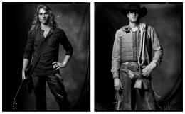 Rock Musician / Bull Rider, 2007 / 2006, 20 x 32-1/2 Diptych, Archival Pigment Print, Ed. 20