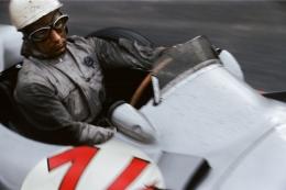 Stirling Moss (Mercedes Benz W196), Grand Prix of Belgium, Francorchamps, 1955