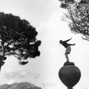 Mossimo on Urn, Ravello, Italy, 2007, Archive Number: DEP-1207-032-04, 16 x 20 Silver Gelatin Photograph