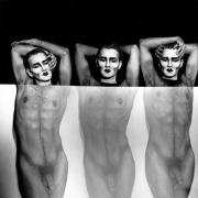 Triplets, 1990, Vintage Silver Gelatin Photograph