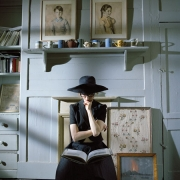 Siobhan Reading Book, Princelet Street, London, England, 2006, Archive Number: LPS-0506-035-13, 16 x 20 Archival Pigment Print