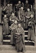 """Monks at Shekar Monastery"", Southern Tibet, 1993, 16 x 10-7/8 Platinum Photograph, Ed. 25"
