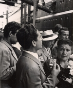 Aunt Returns from America, Naples, 1961, 10-1/4 x 8-9/16 Vintage Silver Gelatin Photograph