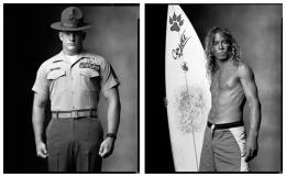 Marine Drill Sergeant, Surfer, 2002 / 2000, 20 x 32-1/2 Diptych, Archival Pigment Print, Ed. 20
