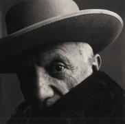 Pablo Picasso (A) at La Californie, Cannes, 1957, Platinum Palladium Photograph, Ed. of 45