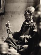 """Prayer Wheel "", Ladakh, 1983, 15-1/4 x 11-7/8 Platinum Photograph, Ed. 25"