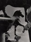 Horses of San Marco, Venice, 1939, 9-15/16 x 7-5/16 Vintage Silver Gelatin Photograph