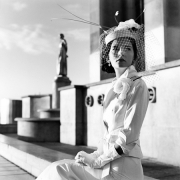 Mira Seated in The Trocadero, Paris, France, 2007, Archive Number: EBR-0907-064-01, 16 x 20 Silver Gelatin Photograph
