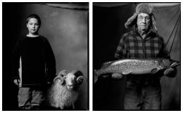 Sheep Farmer's Son / Ice Fisherman, 2005 / 2005, 20 x 32-1/2 Diptych, Archival Pigment Print, Ed. 20