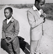 Brothers Going to Church, Tunica, Mississippi, 1990, Silver Gelatin Photograph