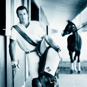 Sylvester Stallone, Polo Pony, Los Angeles, 1989, Archival Pigment Print